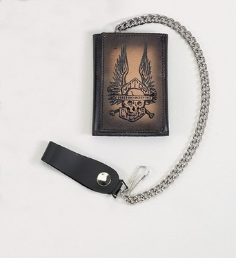 HMB-725G TRIFOLD WALLET CHAIN PURSE WALLETS
