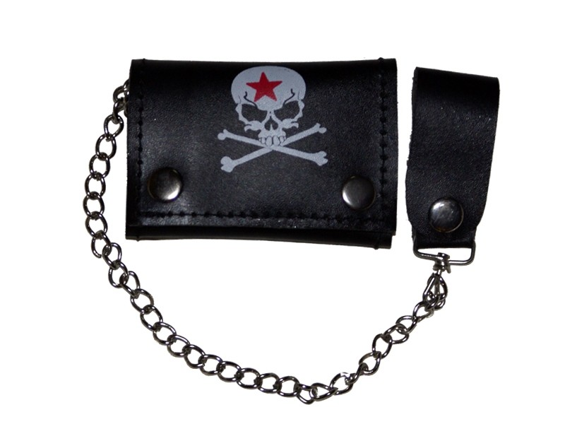 HMB-725K TRIFOLD WALLET CHAIN PURSE WALLETS