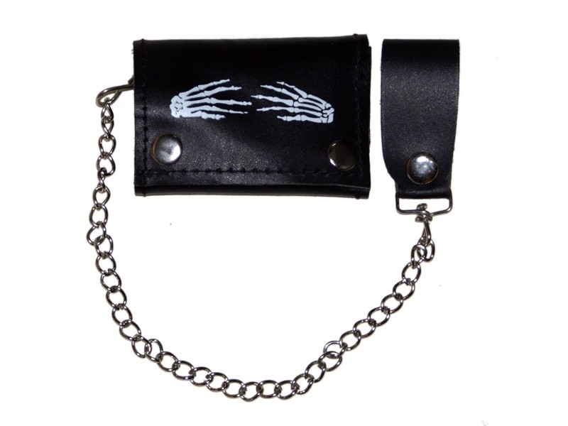 HMB-725N TRIFOLD WALLET CHAIN PURSE WALLETS