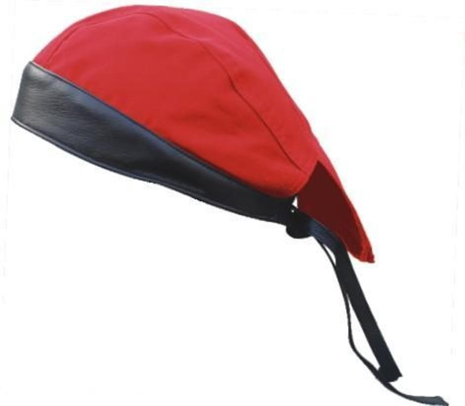 HMB-901A-F7 LEATHER SKULLCAP BANDANA CAPS DURAG HATS BIKER HEAD GEAR