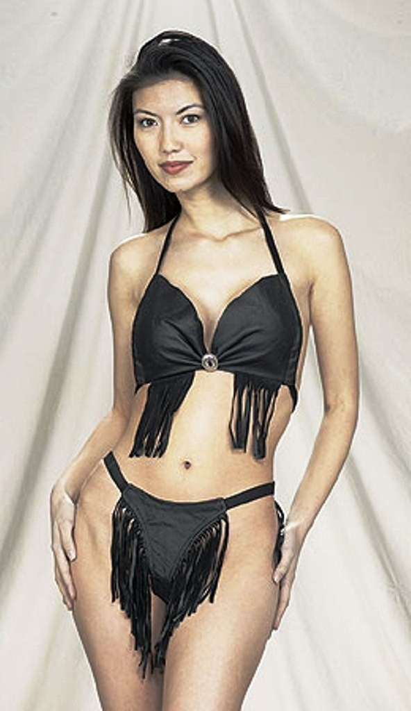 CW-239 LEATHER HALTER AND BIKNI