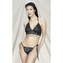 CW-231 LEATHER BRA AND BIKNI