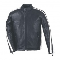 HMB-0405D GENUINE LEATHER JACKET MEN BIKER JACKETS ZIPOUT LINING