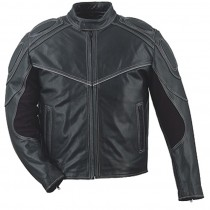 HMB-0406A GENUINE LEATHER JACKET MEN BIKER JACKETS ZIPOUT LINING