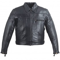 HMB-0407A GENUINE LEATHER JACKET MEN BIKER JACKETS ZIPOUT LINING