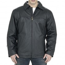 HMB-0408A GENUINE LEATHER JACKET MEN BIKER JACKETS ZIPOUT LINING