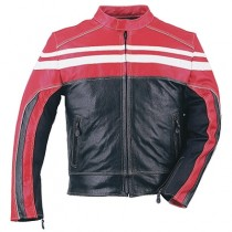 HMB-0418C GENUINE LEATHER JACKET MEN BIKER JACKETS ZIPOUT LINING