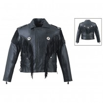 HMB-0419A GENUINE LEATHER JACKET MEN BIKER JACKETS ZIPOUT LINING