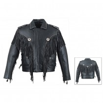 HMB-0419B GENUINE LEATHER JACKET MEN BIKER JACKETS ZIPOUT LINING
