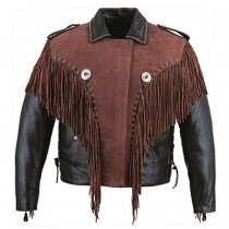 HMB-0419E GENUINE LEATHER JACKET MEN BIKER JACKETS ZIPOUT LINING