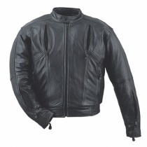 HMB-0420A GENUINE LEATHER JACKET MEN BIKER JACKETS ZIPOUT LINING
