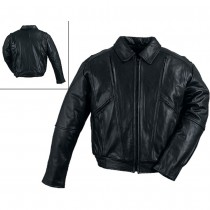 HMB-0423A GENUINE LEATHER JACKET MEN BIKER JACKETS ZIPOUT LINING