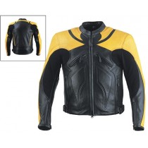 HMB-0430A GENUINE LEATHER JACKET MEN BIKER JACKETS ZIPOUT LINING