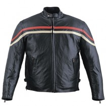 HMB-0467D GENUINE LEATHER JACKET MEN BIKER JACKETS ZIPOUT LINING