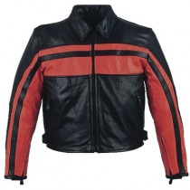 HMB-0477E GENUINE LEATHER JACKET MEN BIKER JACKETS ZIPOUT LINING