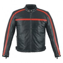 HMB-0489A GENUINE LEATHER JACKET MEN BIKER JACKETS ZIPOUT LINING