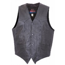 HMB-0499A Men Leather Vests Cowhide