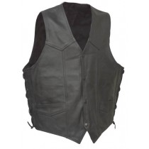 HMB-0500A Men Leather Vests Cowhide