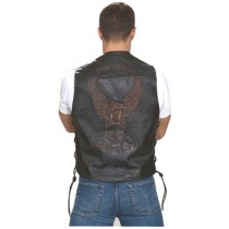 HMB-0501A Men Leather Vests Cowhide