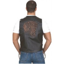 HMB-0502A Men Leather Vests Cowhide