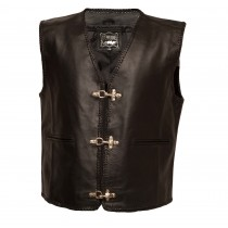 HMB-1124A Men Leather Vests Cowhide