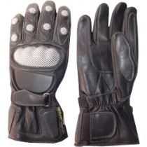 HMB-2011B LEATHER BIKER GLOVES RIDER CHOICE FULL FINGERS