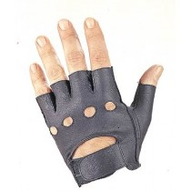HMB-2013C LEATHER BIKER GLOVES RIDER CHOICE FINGERLESS