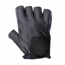 HMB-2014B LEATHER BIKER GLOVES RIDER CHOICE FINGERLESS