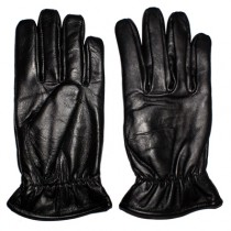 HMB-2030A LEATHER BIKER GLOVES RIDER CHOICE FULL FINGER