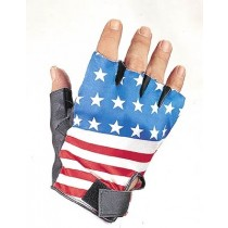 HMB-2034A LEATHER BIKER GLOVES RIDER CHOICE FINGERLESS