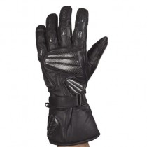HMB-2043A LEATHER BIKER GLOVES RIDER CHOICE FULL FINGER
