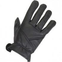 HMB-2076A LEATHER BIKER GLOVES RIDER CHOICE FULL FINGER