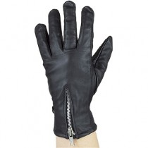 HMB-2089A LEATHER BIKER GLOVES RIDER CHOICE FULL FINGER