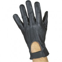 HMB-2091A LEATHER BIKER GLOVES RIDER CHOICE FULL FINGER