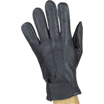 HMB-2093A LEATHER BIKER GLOVES RIDER CHOICE FULL FINGER