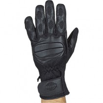 HMB-2096A LEATHER BIKER GLOVES RIDER CHOICE FULL FINGER
