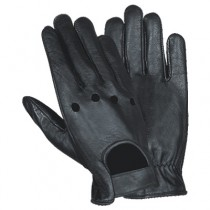 HMB-2097A LEATHER BIKER GLOVES RIDER CHOICE FULL FINGER