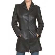 HMB-0277A GENUINE LEATHER JACKET LADIES BIKER JACKETS ZIPOUT LINING