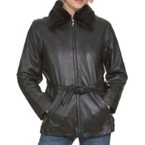 HMB-0279A GENUINE LEATHER JACKET LADIES BIKER JACKETS ZIPOUT LINING