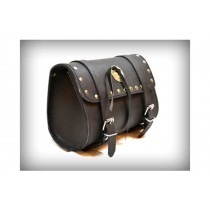 HMB-3004E LEATHER MOTORCYCLE TOOLS FORK BAG BIKER TOOLBAG BLACK STUDS STYLE
