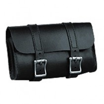 HMB-3008A LEATHER MOTORCYCLE TOOLS FORK BAG BIKER TOOLBAG BLACK