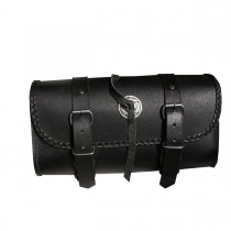 HMB-3014F FREE SHIPPING LEATHER MOTORCYCLE TOOLS FORK BAG BIKER TOOLBAG BRAIDS BLACK TRAVEL