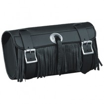 HMB-3065A LEATHER MOTORCYCLE TOOLS FORK BAG BIKER TOOLBAG