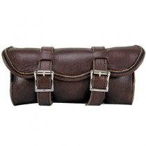 HMB-3074A LEATHER MOTORCYCLE TOOLS FORK BAG BIKER TOOLBAG
