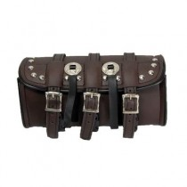 HMB-3082A LEATHER MOTORCYCLE TOOLS FORK BAG BIKER TOOLBAG