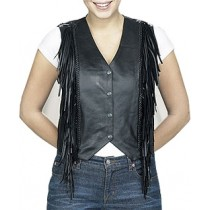 HMB-0347A  Women Leather Vests Cowhide.