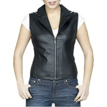 HMB-0368A Women Leather Vests Cowhide.