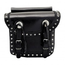 HMB-4013A FREE SHIPPING LEATHER MOTORCYCLE SADDLE BAG KANCHO AND BRAIDS STYLE