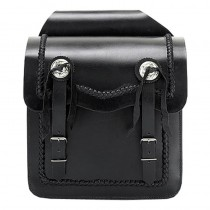 HMB-4014A FREE SHIPPING LEATHER MOTORCYCLE SADDLE BAG KANCHO AND BRAIDS STYLE