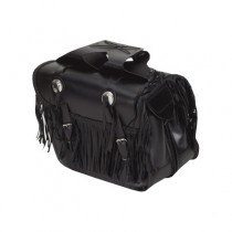 HMB-4025A FREE SHIPPING LEATHER MOTORCYCLE SADDLE BAG BRAIDS AND FRINGES STYLE